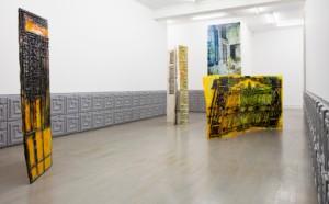 Installationsvy med verk av Emanuel Röhss, Johan Berggren Gallery.